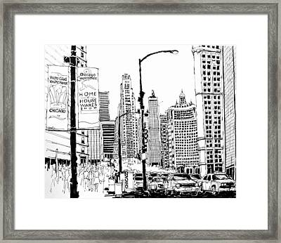 Chicago Michigan Avenue  Framed Print