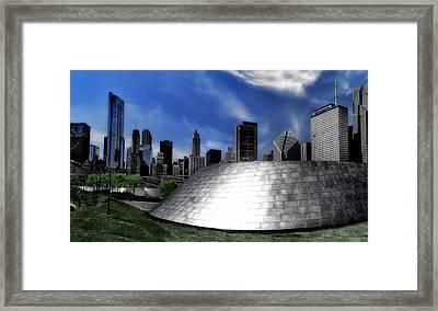 Chicago Millennium Park Bp Bridge Pa 01 Framed Print by Thomas Woolworth