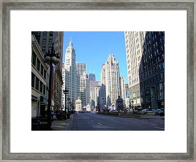 Chicago Miracle Mile Framed Print by Anita Burgermeister