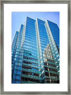Chicago Modern Glass Office Building Architecture Framed Print by Paul Velgos