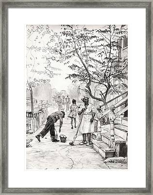 Chicago Morning Framed Print by Brian Child
