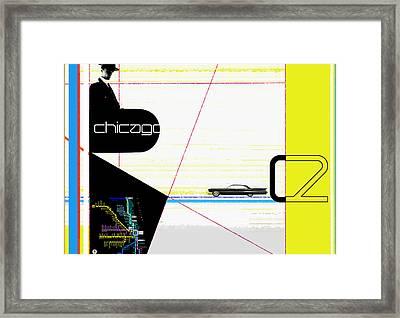 Chicago Framed Print by Naxart Studio