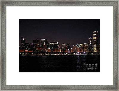 Chicago Night Framed Print by Cathy Weaver