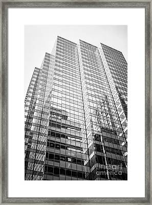Chicago Office Building  Black And White Photo Framed Print by Paul Velgos