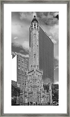 Chicago - Old Water Tower Framed Print by Christine Till