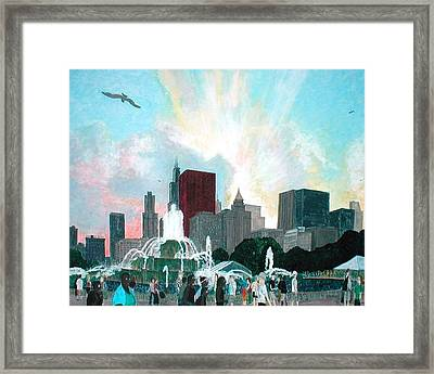 Chicago On The Fourth Framed Print by Jacob Stempky