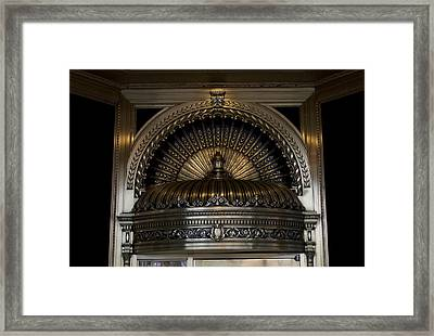 Chicago Ornamental Downtown Entrance Way Framed Print by Thomas Woolworth