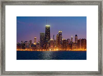 Chicago Panorama Framed Print by Donald Schwartz