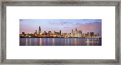Chicago Panorama Framed Print by Paul Velgos