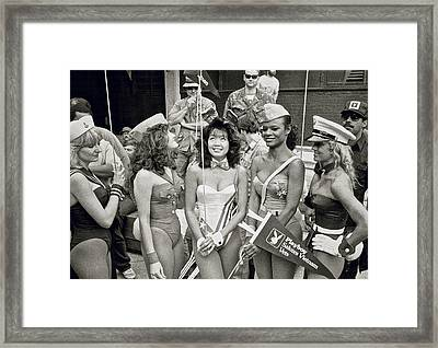 Chicago Playboy Bunnies Framed Print by Robert Frank Gabriel
