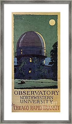 Chicago Poster, 1925 Framed Print by Granger
