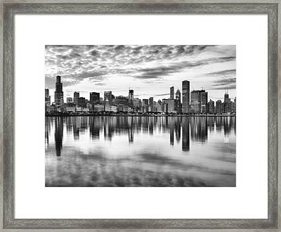 Chicago Reflection Framed Print by Donald Schwartz