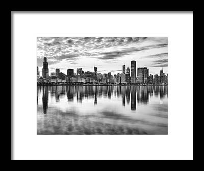 Chicago Black White Framed Prints