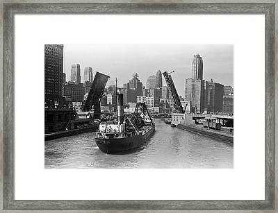 Chicago River 1941 Framed Print by Daniel Hagerman