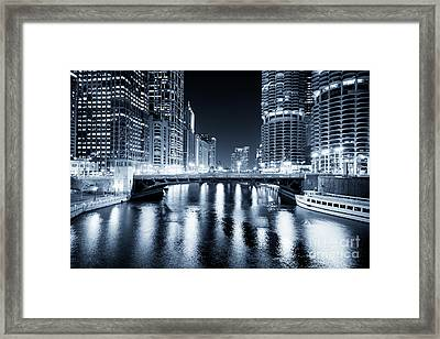 Chicago River At State Street Bridge Framed Print by Paul Velgos