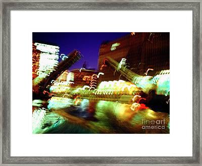 Chicago River Bridge #1  Framed Print