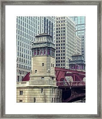 Chicago River Bridgehouse Framed Print