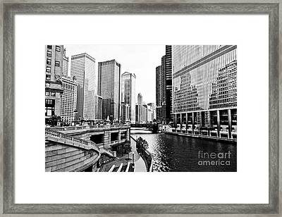Chicago River Buildings Architecture Framed Print by Paul Velgos
