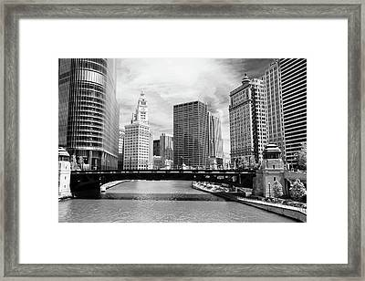 Chicago River Buildings Skyline Framed Print by Paul Velgos