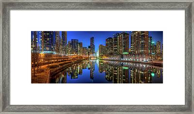Chicago River East Framed Print