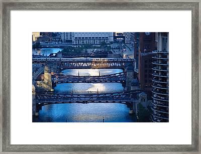Chicago River First Light Framed Print by Steve Gadomski