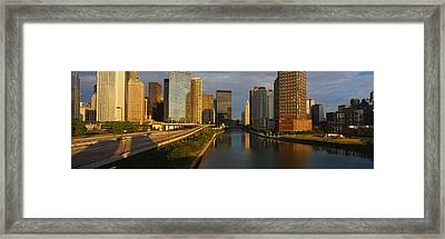 Chicago River From Lake Shore Drive Framed Print by Panoramic Images