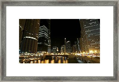 Chicago River Nights Framed Print