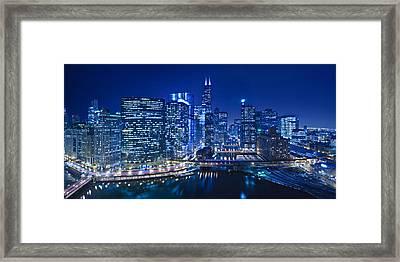 Chicago River Panorama Framed Print by Steve Gadomski