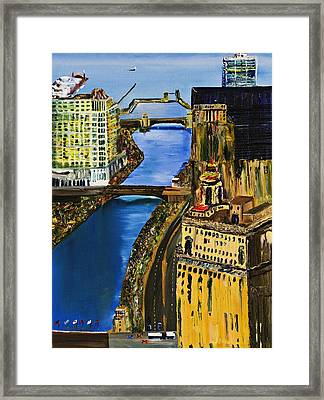 Chicago River Skyline Framed Print by Gregory A Page