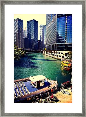 City Of Chicago - River Tour Framed Print