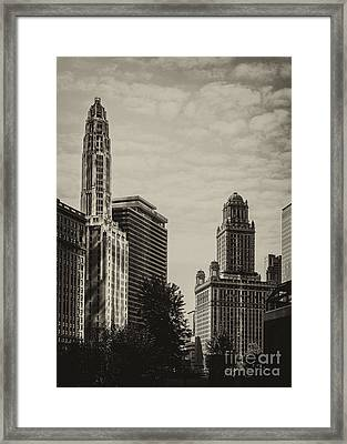 Chicago Riverside Framed Print