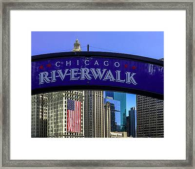 Chicago Riverwalk Framed Print