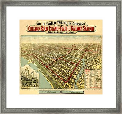 Chicago Rock Island And Pacific Railway Station Framed Print by Donna Leach