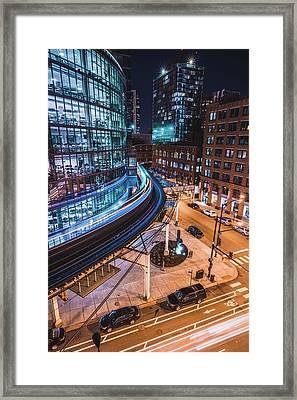 Chicago S Train Framed Print