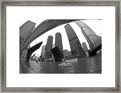 Chicago Sailboats Heading To Harbor Framed Print by Sven Brogren
