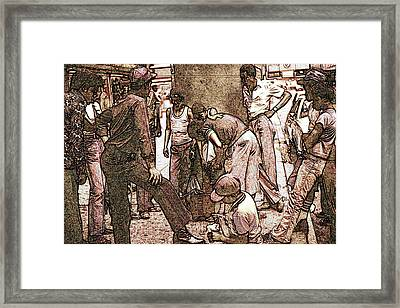 Chicago Shoeshine Boys - Pencil Framed Print