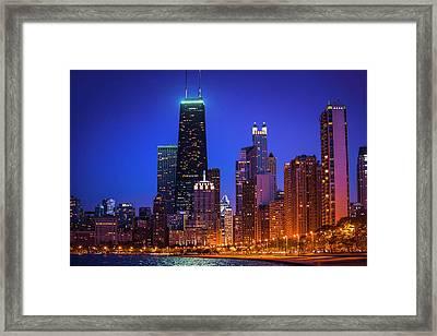 Chicago Shoreline Skyscrapers Framed Print