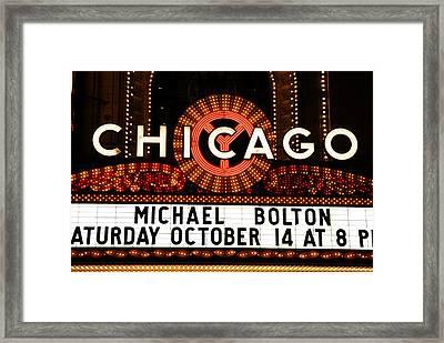 Chicago Sign - Chicago Theater Framed Print by Dmitriy Margolin