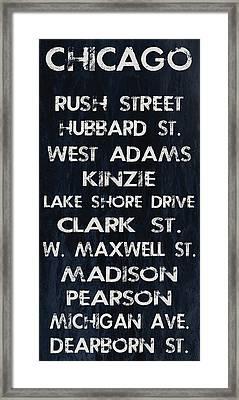 Chicago Sites Framed Print