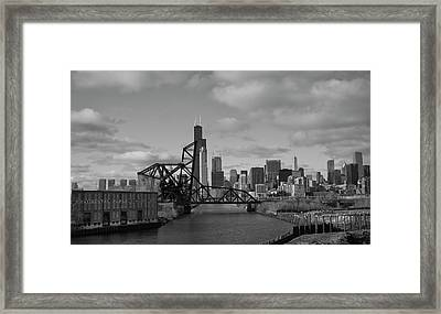 Chicago Skyline 2 Framed Print by Sheryl Thomas