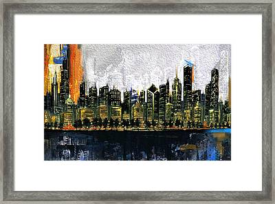 Chicago Skyline 201 3 Framed Print