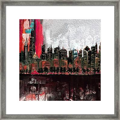 Chicago Skyline 201 4  Framed Print by Mawra Tahreem