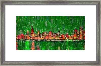Chicago Skyline 209 - Pa Framed Print by Leonardo Digenio