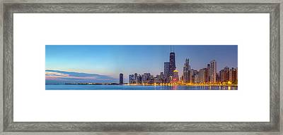 Chicago Skyline At Dawn Framed Print by Twenty Two North Photography