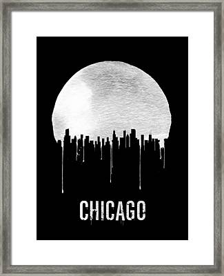 Chicago Skyline Black Framed Print