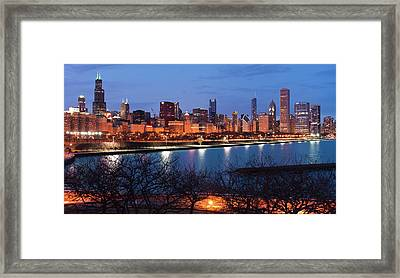 Chicago Skyline March 2011 Framed Print by Donald Schwartz