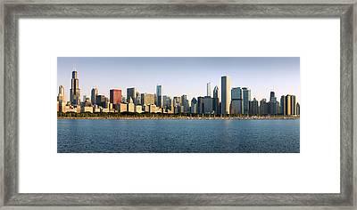Chicago Skyline Panorama Framed Print by Donald Schwartz