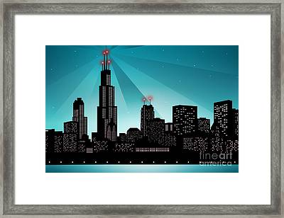 Chicago Skyline Framed Print by Sandra Hoefer