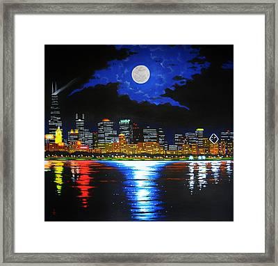 Chicago Skyline Framed Print