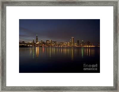 Chicago Skyline  Framed Print by Timothy Johnson